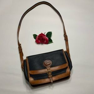 Vintage Dooney & Bourke Navy Blue & Tan Purse